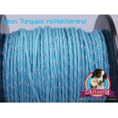 US - Cord  Typ 2 Neon Turquise reflektierend