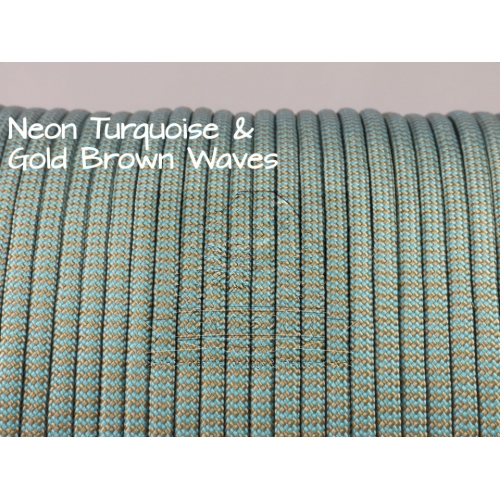 US - Cord  Typ 3 Neon Turq. & Gold Brown Wave