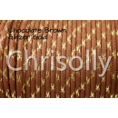 US - Cord  Typ 3 Chocolate Brown Glitzer Gold