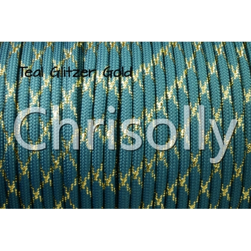 US - Cord  Typ 3 Teal Glitzer Gold