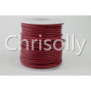 Leder 1mm Rot used