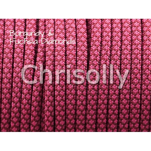 US - Cord  Typ 3 Burgundy & Fuchsia Diamonds