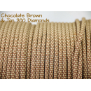 US - Cord  Typ 3 Chocolate Brown & Tan 380 Diamonds