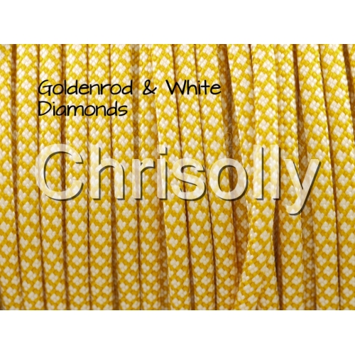 US - Cord  Typ 3 Goldenrod & White Diamonds