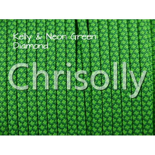 US - Cord  Typ 3 Kelly Green & Neon Green Diamond