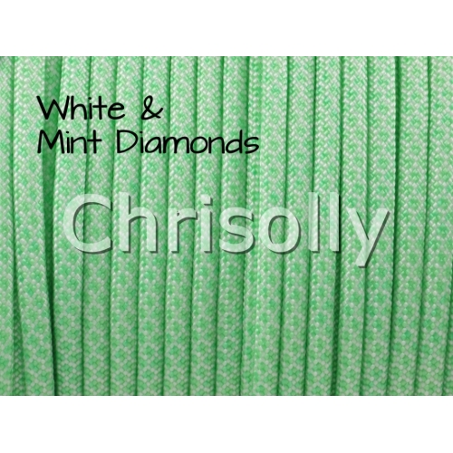 US - Cord  Typ 3 White & Mint Diamonds