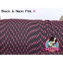 US - Cord  Typ 3 Black & Neon Pink X