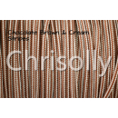 US - Cord  Typ 1 Chocolate Brown & Cream Stripes