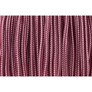 US - Cord  Typ 1 Burgundy & Lavender Pink Stripes