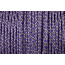US - Cord  Typ 2 Charcoal Grey & Purple Diamonds
