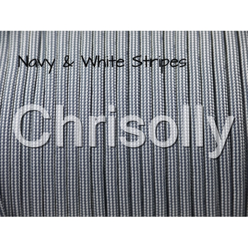 US - Cord  Typ 3 Navy & White Stripes