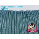 US - Cord  Typ 3 Neon Turquise & Black Stripes