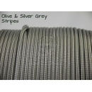 US - Cord  Typ 3 Olive & Silver Grey Stripes