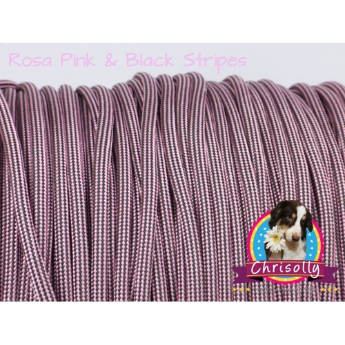 US - Cord  Typ 3 Rosa Pink & Black Stripes