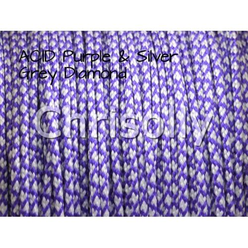 US - Cord  Typ 1 ACID Purple & Silver Diamonds