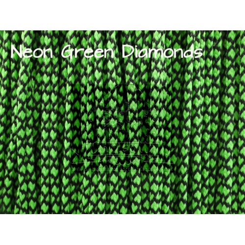 US - Cord  Typ 1 Neon Green Diamond