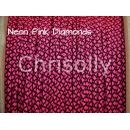 US - Cord  Typ 1 Neon Pink Diamonds