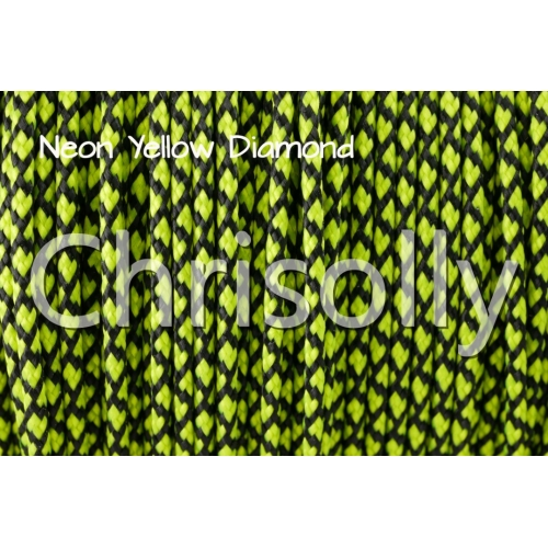 US - Cord  Typ 1 Neon Yellow Diamond