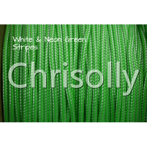 US - Cord  Typ 1 White & Neon Green Stripes