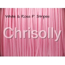 US - Cord  Typ 1 White & Rosa P. Stripes