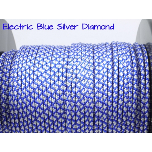US - Cord  Typ 2 Electric Blue Silver Diamond