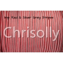 US - Cord  Typ 2 Imp. Red & Silver Grey Stripes