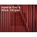 US - Cord  Typ 2 Imperial Red & Black Stripes