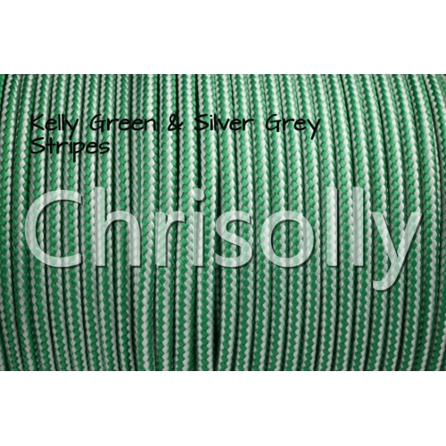 US - Cord  Typ 2 Kelly Green & Silver Grey Stripes