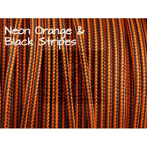 US - Cord  Typ 2 Neon Orange & Black Stripes